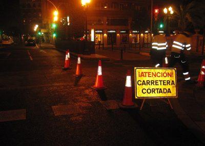 Obras de asfaltado en diferentes emplazamientos en la ciudad de Alicante