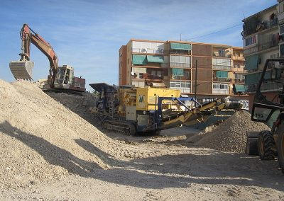 Demolición del edificio sito en la Calle Diputado José Luis Barceló 18 de Alicante