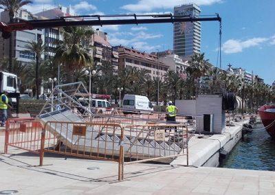 Reparación cantil en el muelle de atraque del Puerto de Alicante